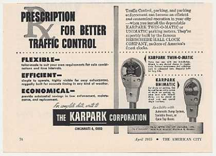 Karpark Twin-O-Matic Unimatic Parking Meters (1955)