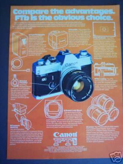 Canon Ftb 35mm Slr Camera (1976)
