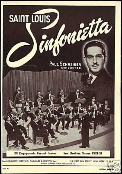 Saint Louis Sinfonietta Paul Schreiber Photo (1949)