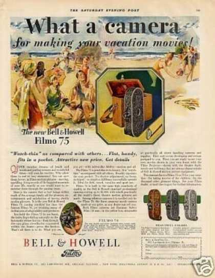 Bell & Howell Filmo Movie Camera Color (1928)
