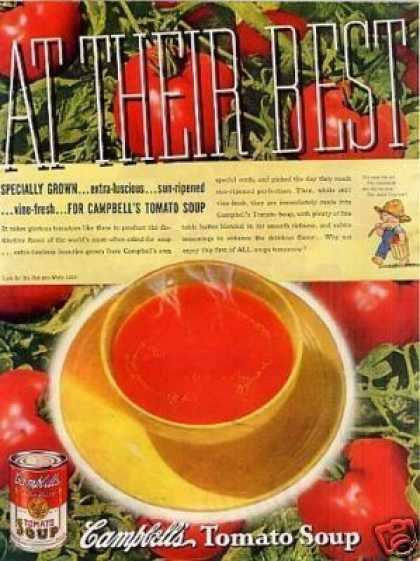 "Campbell's Tomato Soup Ad ""At Their Best... (1937)"