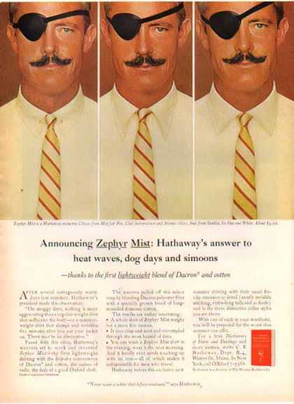 Zephyr Mist Shirt – Hathaway's answer to heat waves (1966)
