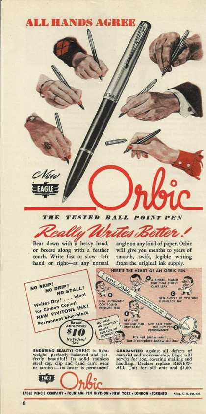 Orbic Ball Point Pen (1946)