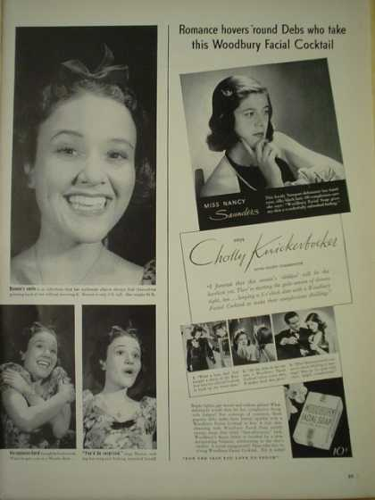 Woodbury Facial. Cholly Knickerbocker (1940)