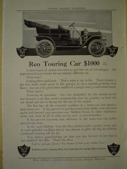 REO Touring car AND AT@T ATT American Telephone and Telegraph (1909)