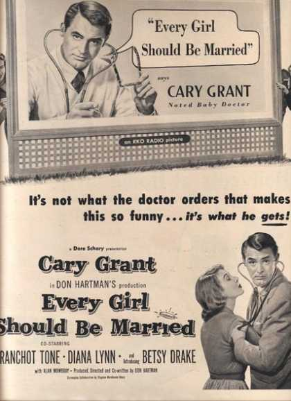 Every Girl Should be Married (Cary Grant and Franchot Tone) (1948)
