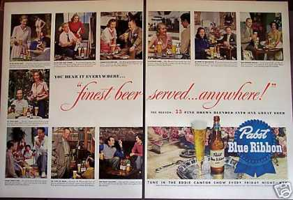 Pabst Blue Ribbon Beer Famous People 2 Pg (1949)