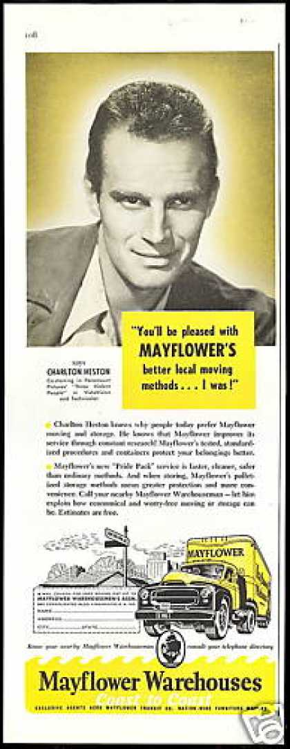 Charlton Heston Mayflower Transit Truck Mover (1956)