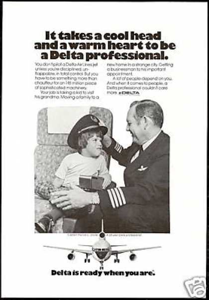Delta Airlines Captain Harold Stone Photo (1974)