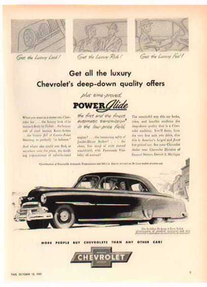 Chevrolet Car – Styleline Deluxe Sedan – Sold (1952)