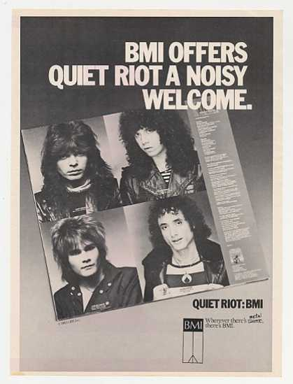 Quiet Riot BMI Promo Photo (1983)