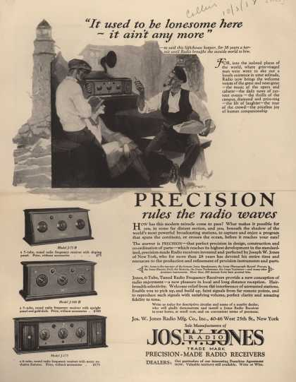 "Jos. W. Jones Radio Mfg. Co.'s Various – ""It used to be lonesome here – it ain't any more"" (1925)"