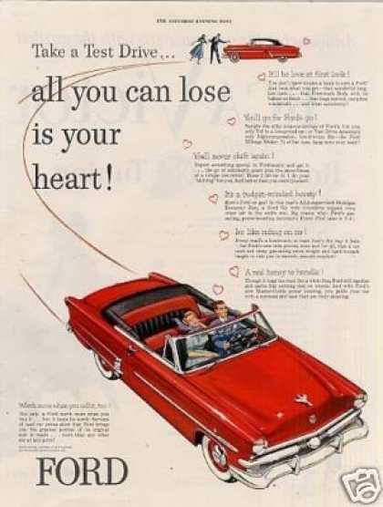 "Ford Car Ad ""Take a Test Drive... (1953)"
