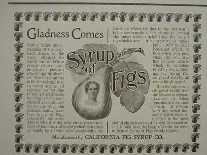 California Fig Syrup Gladness Comes (1896)