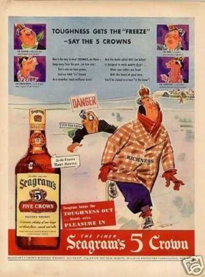 Seagram's 5 Crown Whiskey (1943)
