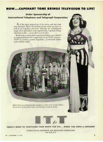 IT&T Telephone – Herva Nelli Opera Star of Aida (1949)