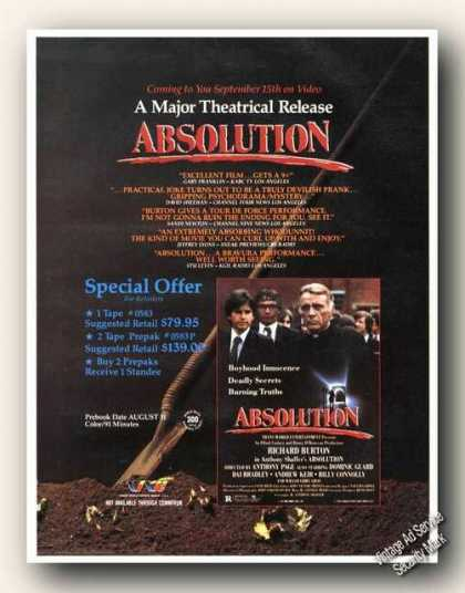 Absolution Movie Video Advertising (1988)