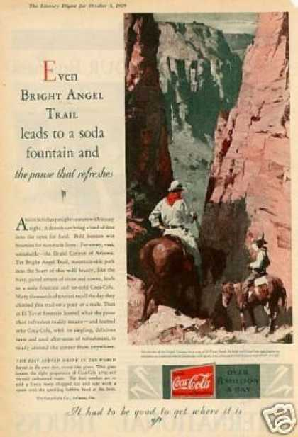 Coca-cola Color Ad Grand Canyon (1929)