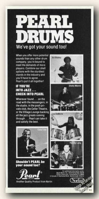 Pearl Drums Multiple Artist Photos Promo (1978)