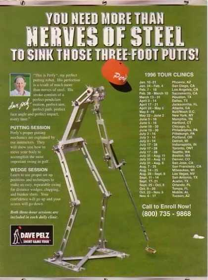 Pelz, Dave – Short Golf Game Tour – Perfy the Putting Robot (1996)