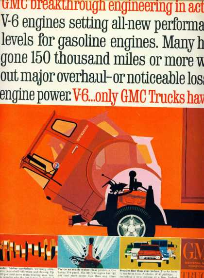 Gmc Trucks 305 V6 Engine Very Modern Colorful C (1965)