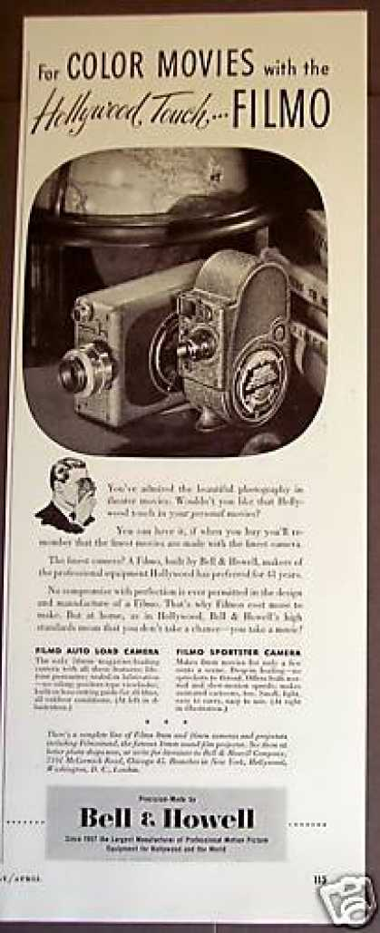 Bell & Howell Filmo 16mm Color Movie Camera (1948)