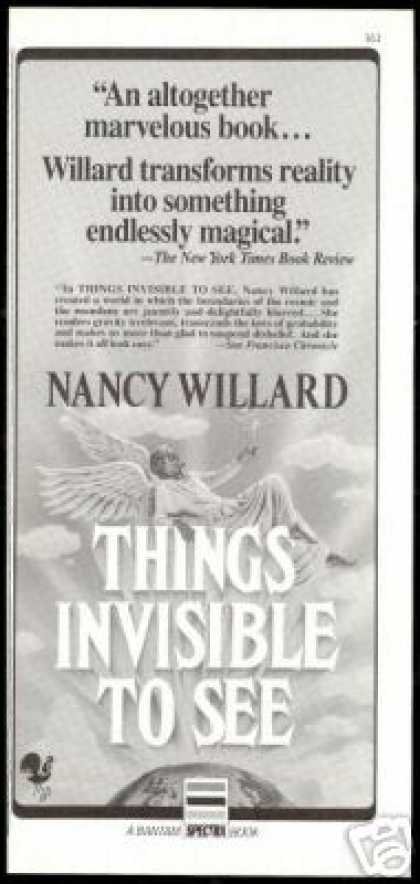 Nancy Willard Things Invisible to see Book (1985)