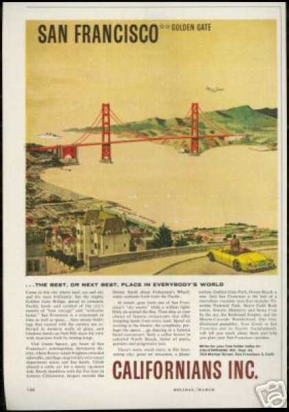 California San Francisco Golden Gate Bridge (1960)