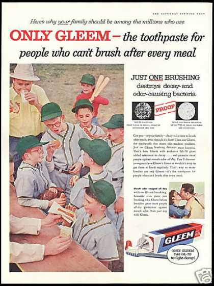 Gleem Toothpaste Little League Baseball (1957)