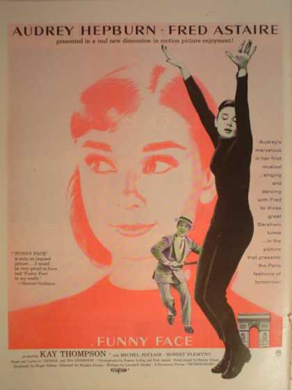 Movie Funny Face Audrey Hepburn Fred Astaire (1957)