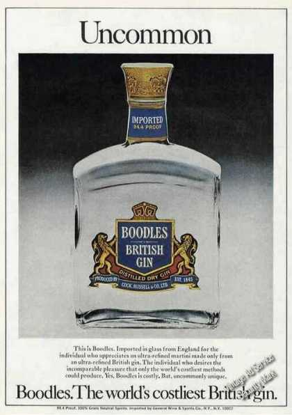 Boodles. the World's Costliest British Gin Rare (1977)