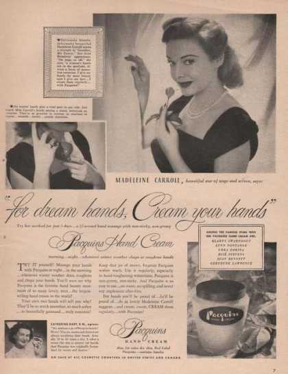 Madeleine Carroll Pacquins Hand Cream (1949)