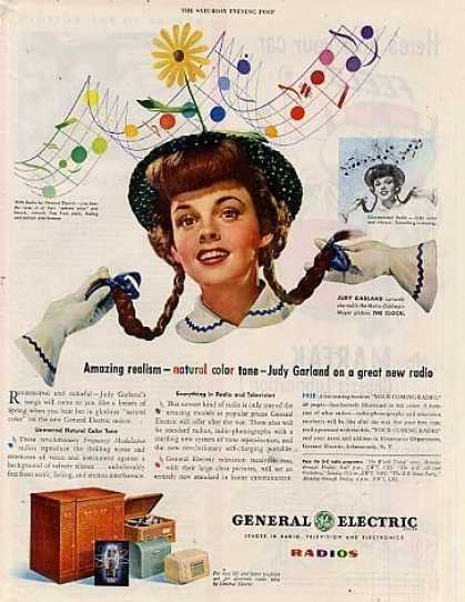 General Electric Radio Ad Judy Garland (1945)