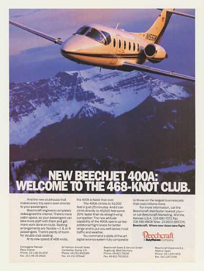 Beechcraft Beechjet 400A Jet Aircraft Photo (1990)