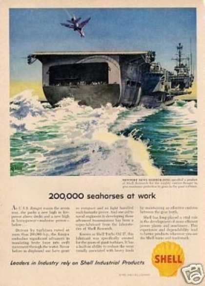 Shell Ad Newport News Shipbuilding (1958)