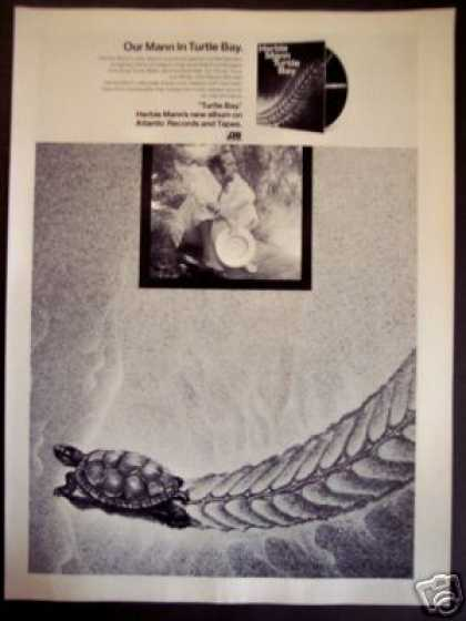 Herbie Mann Record Album Turtle Bay Promo (1973)