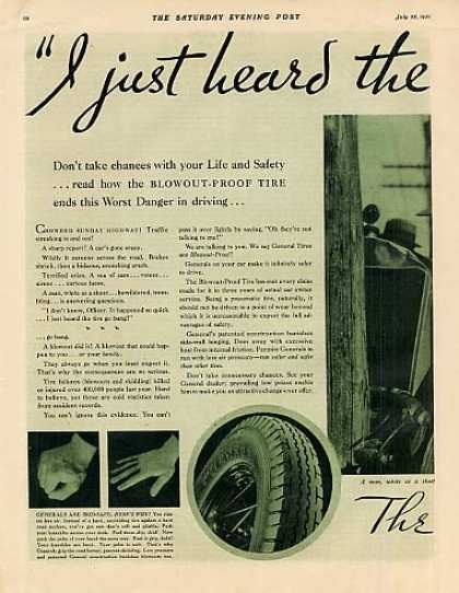 General Tire Color Ad 2 Page (1931)