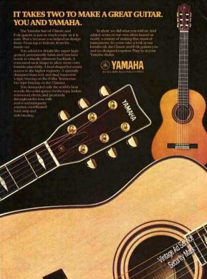 """You and Yamaha"" It Takes Two Guitar (1979)"