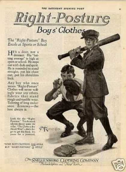 Snellenburg Right-posture Boys Clothes (1920)