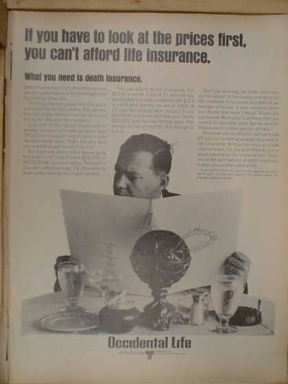 Occidental Life Insurance. What you need is death insurance (1968)