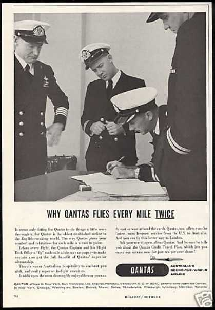 Qantas Airlines Flight Captain Officers (1958)
