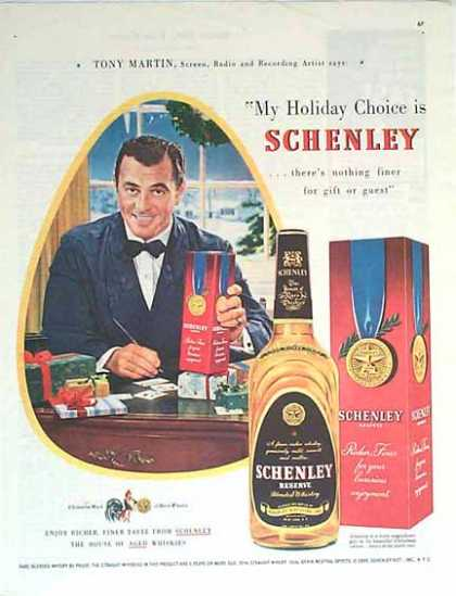 Schenley Whiskey Christmas – Tony Martin (1949)