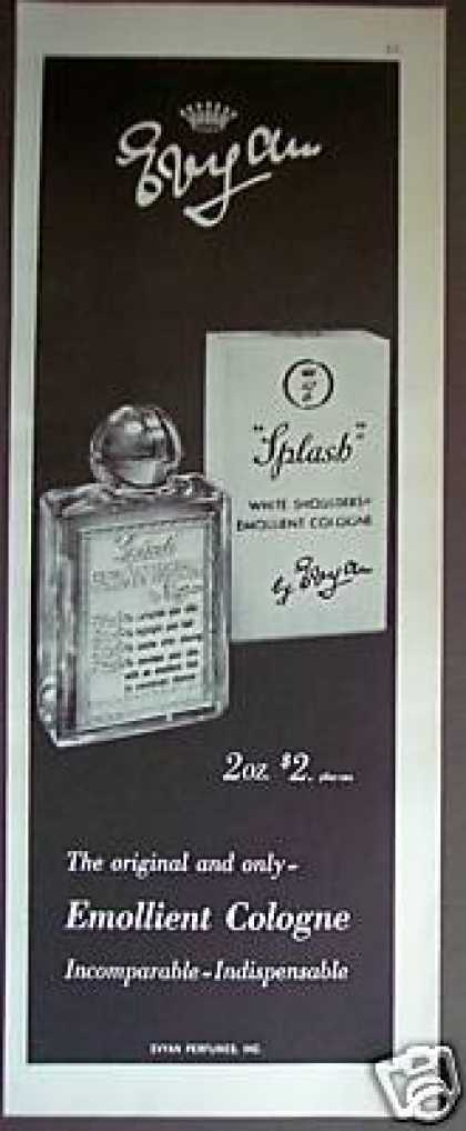 Splash White Shoulders Cologne Perfume (1965)