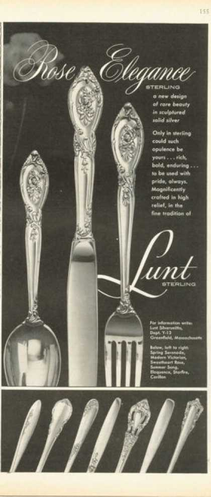 Lunt Sterling Silver Dinnerware 8 Patterns (1958)