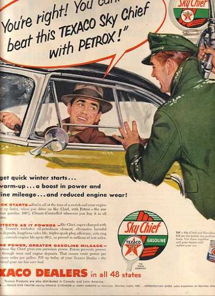 Texaco's Sky Chief Gasoline (1955)