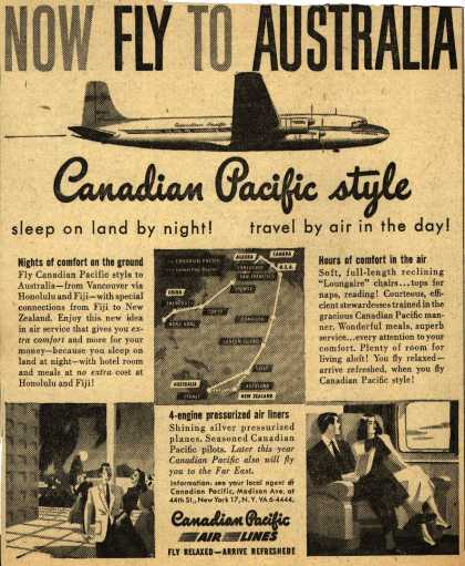 Canadian Pacific Air Line's Australia – Now Fly To Australia (1950)
