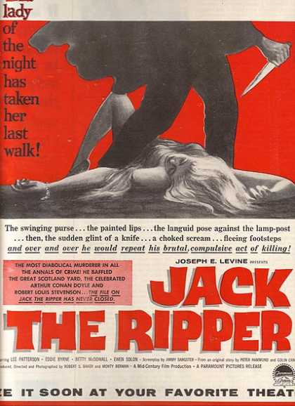 Jack the Ripper (Lee Patterson, Eddie Byrne and Betty McDowall) (1960)