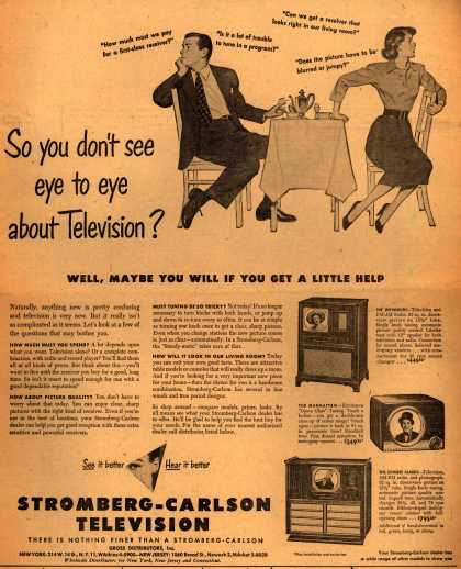 Stromberg-Carlson Television's various – So you don't see eye to eye about Television? (1949)