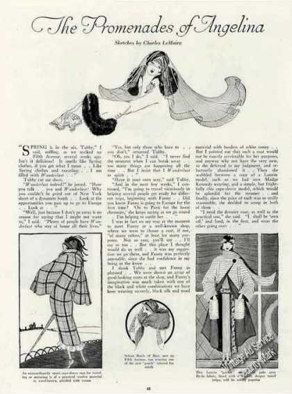 Antique Fashion Article W/sketches & Photos (1924)
