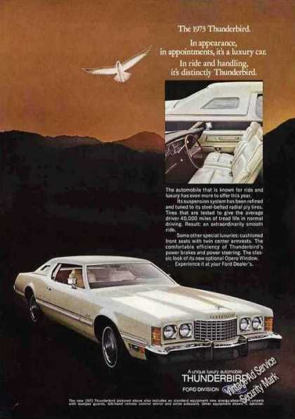 "Ford Thunderbird Photo ""It's a Luxury Car"" (1973)"
